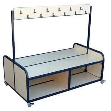 Cloakroom Bench Trolley On Wheels