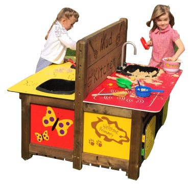 Unit incorporates the messy play and kitchen units