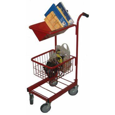 Book Shelf and Basket Trolley
