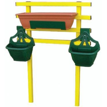Small support rail can be added to any small box to allow for hanging baskets.