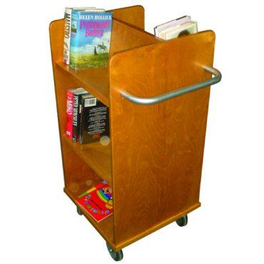 Solid Wood Book Trolley