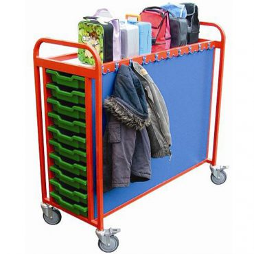 Cloakroom Trolley with storage Capacity