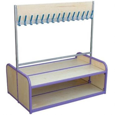 Double Sided Cloakroom Bench
