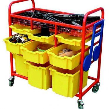 Instrument storage trolley