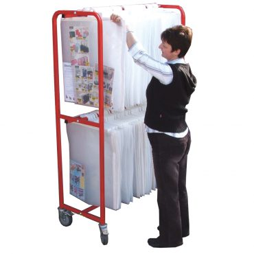 Large double tier big book trolley