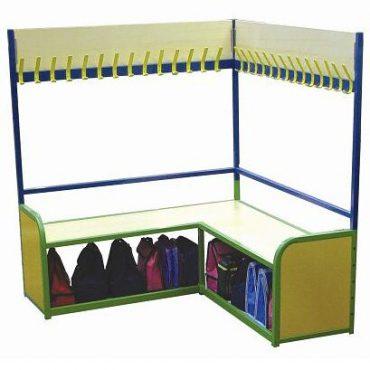 Modular Cloakroom Corner Bench