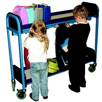 Multi-purpose lunchbox and cloakroom trolley
