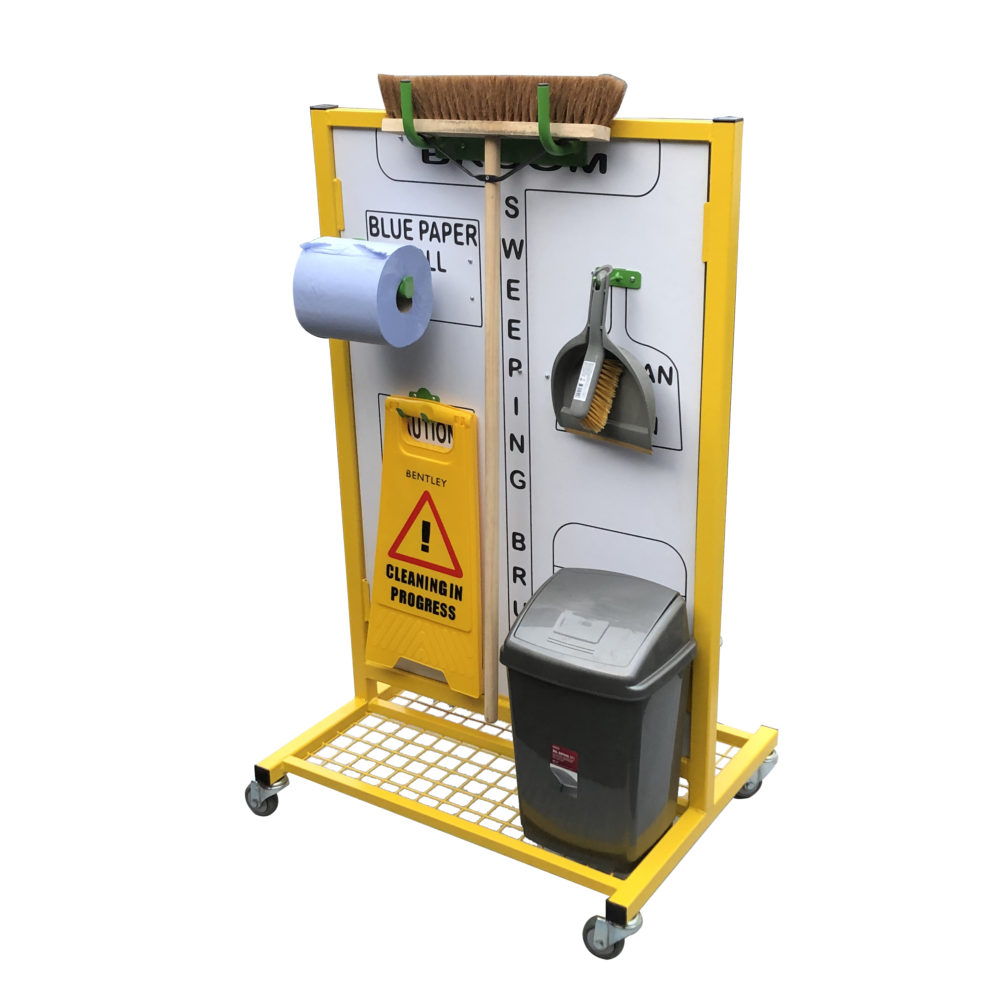 Double Sided Cleaning Station With Mesh Platform