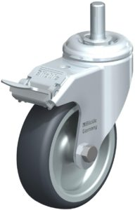 Castor wheel with brake example