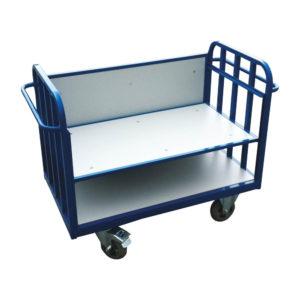 Two Shelf Trolley With Locking Castors