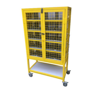 Security Cupboard With Castor Wheels