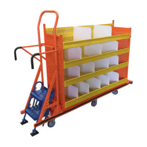 Step Picking Trolley With Dividers