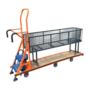 Step Trolley With Mesh Container