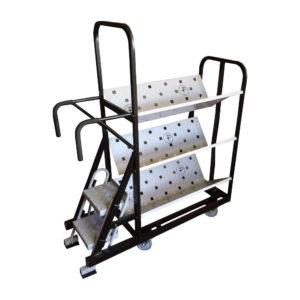 Step Trolley With V Shelf