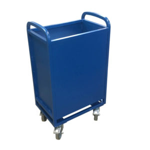 Blue Spring Loaded Trolley