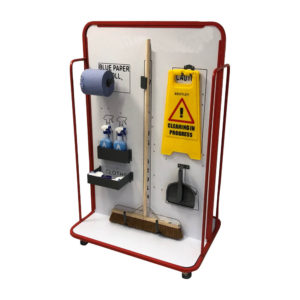 Wide Cleaning Station With Castor Wheels