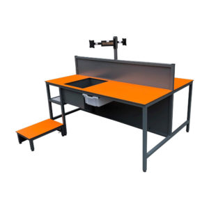 Double Sided Packing Bench With Pivot Arm