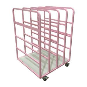 Pink Toast Rack Trolley