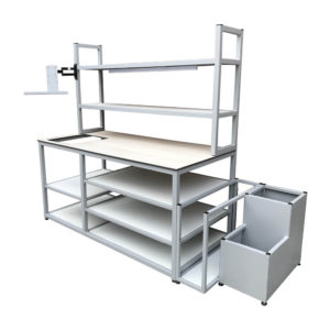 Multi Level Shelf Packing Bench