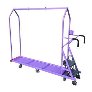 Step Trolley Clothes Rail With Tote Shelf