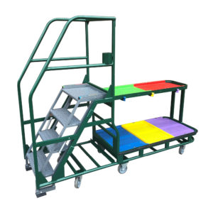 Coloured Sectioned Step Trolley