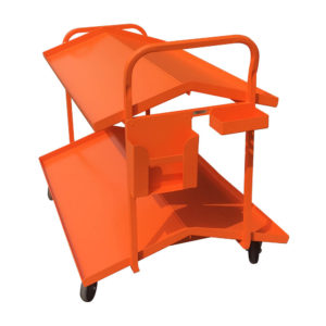 Tilt Shelf Trolley With Clipboard Holder