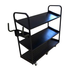 Black Tilt Shelf Trolley