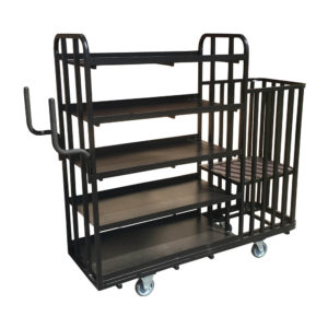 Flat Shelf Trolley With Cage End