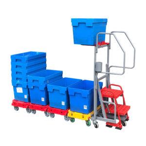 Step Trolley With Additional Shelf
