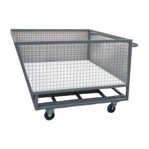 Large Industrial Mesh Compartment Trolley