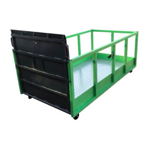 Large Flatbed Trolley With Loading Ramp