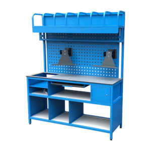 Work Bench With Dividers And Screen Holders