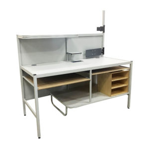 Packing Bench With Shelves