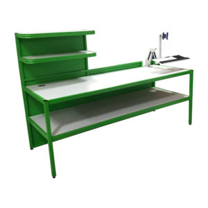 Work Bench With Screen Arm