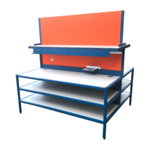 Work Bench With Shelves And Built In Light