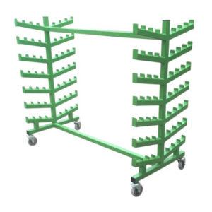 Multi Use Garment Rail Trolley With Hooks