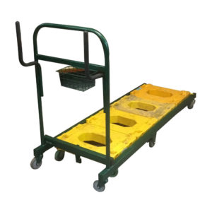 Dolly Pusher Trolley With Multiple Dollies