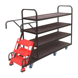 Step Trolley With Three Steps