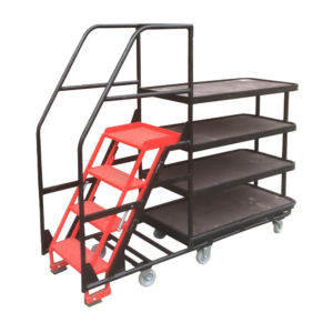 Step Trolley With Hand Rails