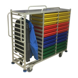 Clothing Trolley With Rail, Bars and Drawer Storage