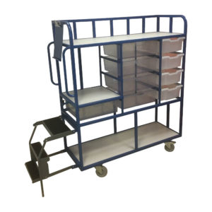 Step Trolley For Multiple Size Boxes