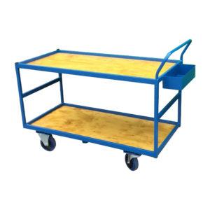 Wide Wood Shelf Trolley