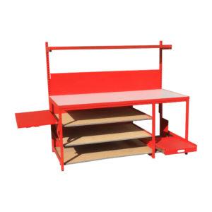 Work Bench With Fold Down Side Shelf