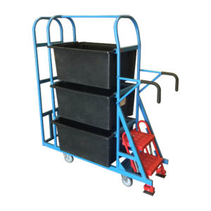 Step Trolley With Packaging End Section