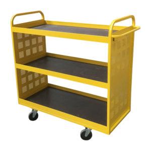 Yellow Tray Shelf Trolley