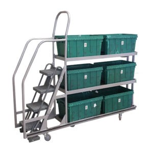 Three Shelf Step Trolley