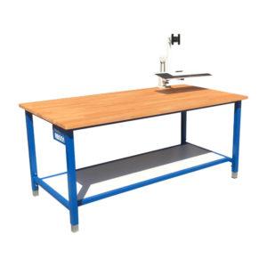 Height Adjustable Wood Top Work Bench