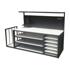 Packing Bench With Storage And Side Rack