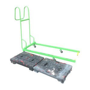 Green Dolly Pusher With Dollies