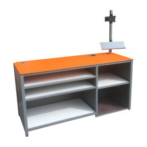 Orange Work Bench With Shelving